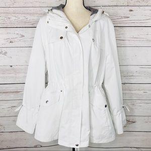 Dressbarn Jacket Hooded Full-Zip Pockets